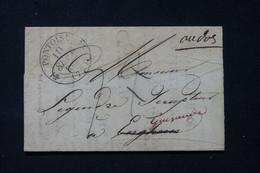 FRANCE - Cachet Postal Avec Fleurons De Pontoise Sur Lettre Pour Enghien Et Redirigé Vers Guérande En 1833 - L 87526 - 1801-1848: Precursores XIX