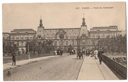 CPA 75 - PARIS - 127. Pont Du Carrousel - Dos Non Divisé (animée) - Puentes