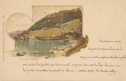 Territet  Glion  Carte Avec Commentaire Elogieux Funiculaire 1898 Herteniatthe - VD Vaud