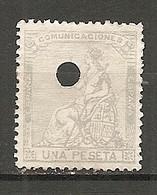 ESP 1873- Yv. N° 137 Perforé  (*)  1p  Allégorie Cote  6 Euro  BE  2 Scans - Nuevos