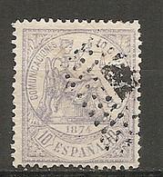ESP 1873- Yv. N° 143  (o)  10c  Justice Cote  0,45 Euro BE 2 Scans - Oblitérés