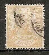 ESP 1873- Yv. N° 147  (o)  50c  Justice Cote  11 Euro BE R 2 Scans - Oblitérés
