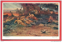 "133865 / WWI  "" WAR IN THE VILLAGE "" BATTLE SCENE By Kozhuharev - NPG Bulgaria Bulgarie Bulgarien Bulgarije - Bulgarie"