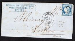 """FRANCE ( OBLITERATION LOSANGE ) : G C   647  """" Brives Corrèze  """"  A  SAISIR . - 1849-1876: Klassieke Periode"""
