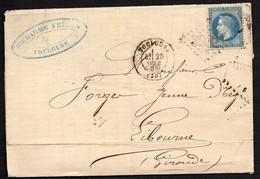 """FRANCE ( OBLITERATION LOSANGE ) : G C  3982  """" Toulouse Haute-Garonne  """"  A  SAISIR . - 1849-1876: Klassik"""
