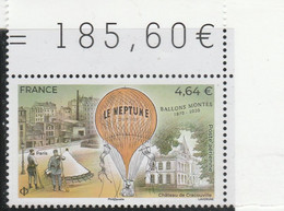 FRANCE 2020 BALLONS MONTES LE NEPTUNE NEUF + BDF - 1960-.... Mint/hinged