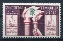 RC 20126 ST PIERRE ET MIQUELON SMP COTE 19€ PA N° 26 APPROBATION DE LA CONSTITUTION NEUF ** MNH - Unused Stamps