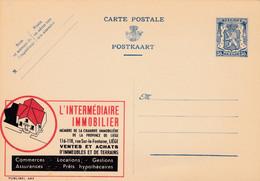 Carte Entier Postal Publibels 482 L'intermédiaire Immobilier - Publibels