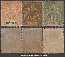 Bénin: 40c 75c 1F Groupe Neuf * Aspect TB (Dallay N° 39,41,42 Cote 80€ ) - Nuovi