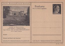 Carte Entier Postal Ganzsache Postkarte Wiesbaden Am Taunus Und Rhein - Enteros Postales