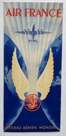 AIR FRANCE - Réseau Aérien Mondial - Dépliant Publicitaire 4 Volets - 1948 - Advertisements