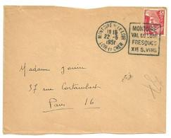 LOIR Et CHER - Dépt N° 41 = MONTOIRE 1951 = FLAMME DAGUIN 'VAL ... FRESQUES / VINS' - Mechanische Stempels (varia)