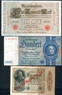 LOT DE 5 BILLETS D'ALLEMAGNE - Kilowaar - Bankbiljetten