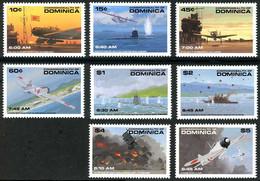 Dominica Dominique 1991 Pearl Harbor 50 Years Mitsubishi A6M2 Zéro, Nakajima B5N2 Kate, Consolidated Catalina - Seconda Guerra Mondiale