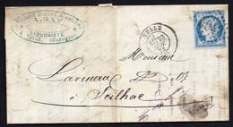 """FRANCE ( OBLITERATION LOSANGE ) : G C  4042   """"  Tulle Corrèze """"  A  SAISIR . - 1849-1876: Klassieke Periode"""
