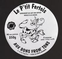 Jan21  72022  étiquette De Fromage  Le P'tit Fertois - Formaggio