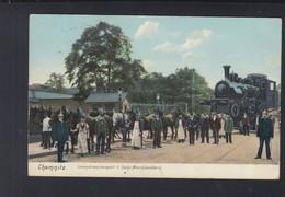 Dt. Reich AK Chemnitz Lokomotiventransport D. Sächs. Maschinenfabrik 1908 - Eisenbahnen