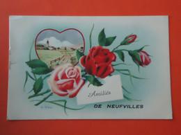 Soignies - Neufvilles   Amitiés De Neufvilles  ( 2 Scans ) - Soignies
