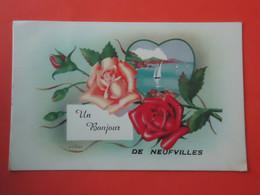 Soignies - Neufvilles    Un Bonjour De Neufvilles  ( 2 Scans ) - Soignies