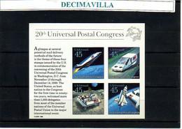 TRVA083, ESTADOS UNIDOS, U.S.A., U.P.U. COSMOS. 1988. H.B. 22 - USA