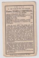 ZUSTER MARIA CORNELIA / ANNA DE ZUTTER  - MERELBEKE 1895  - NAZARETH 1945 - Nazareth