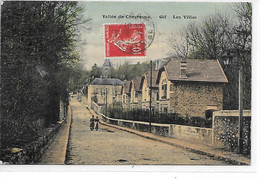 DEP. 91 VALLEE DE CHEVREUSE - GIF - LES VILLAS Carte Colorisée - Gif Sur Yvette