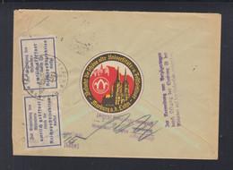 Dt. Reich Ortsbrief Marburg 1938 Geöffnet Zurück Vignette - Cartas