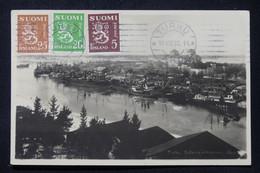 FINLANDE - Affranchissement Tricolore De Turku Sur Carte Postale En 1933 Pour La France - L 87617 - Covers & Documents