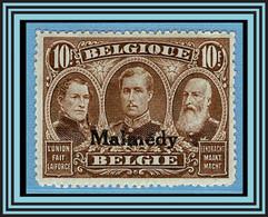 BELGISCHE BESETZUNG MALMEDY 12 * = BELGIUM Scott #1N58mh = BELGIE-BELGIQUE OCB Bz 87 / Yvert 35 Neuf - [OC55/105] Eupen/Malmedy