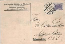 Österreichischer Lichtbild- & Film-Dienst Bundesministerium Unterricht Hauptbildstelle Wien - 30.12.1933 Wien 72 - Covers & Documents