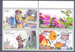2020. Tajikistan, Beekeeping, 4v Perforated, Mint/** - Tadschikistan