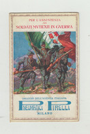 CARTOLINA POSTALE IN FRANCHIGIA PUBBLICITARIA PIRELLI GOMME - POSTA MILITARE 1916  PER ASSISTENZA AI SOLDATI MUTILATI - Franchise