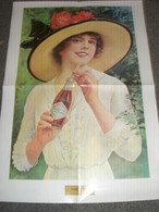 POSTER PUBBLICITARIO COCA COLA -RIPRODUZIONE -SUMMER GIRL 1921 - Affiches Publicitaires