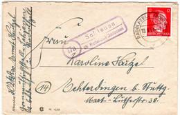 DR 1944, Landpost Stpl. 17a SCHIENEN über Radolfzell/Bodensee Auf Brief M. 12 Pf - Non Classés