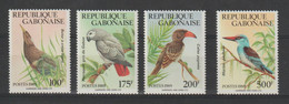 Gabon 1989 Oiseaux 660-663 4 Val ** MNH - Gabun (1960-...)