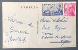 Espagne, CPA Pour L'Algérie - (B744) - Cartas