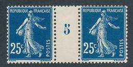 DX-471: FRANCE: Lot Avec N°140t** Millésime 5 (papier X) - Millésimes
