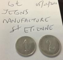LOT JETON Manufacture Française D'Armes Et Cycles - Saint-Etienne  En L Etat Sur Les Photos - Monetary / Of Necessity