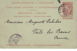 Courtrai => Vals-les-Bains 1899. Camille Depoortere => Auguste Delubac. Inventeur Soie Artificielle & Viscose - Cartoline [1871-09]