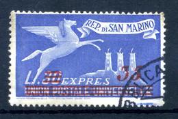 1947-48 SAN MARINO ESPRESSO N.18 USATO - Express Letter Stamps
