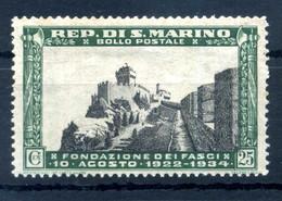 1934 SAN MARINO N.189 25 CENTESIMI MNH ** - Unused Stamps