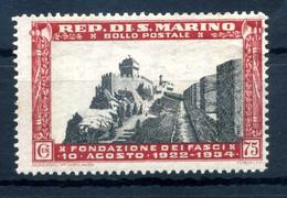 1934 SAN MARINO N.191 75 CENTESIMI MNH ** - Unused Stamps
