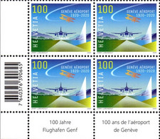 2020 4erBl Flughafen Genf** Neu / Geneva Airport / Aéroport De Genève / Aeroporto Di Ginevra - Ungebraucht