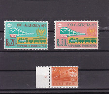 Indonesia 1964 And 1968 MNH** - Eisenbahnen