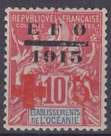 OCEANIE : CROIX ROUGE EFO 1915 N° 39 NEUF * GOMME AVEC CHARNIERE - TB CENTRAGE - Neufs