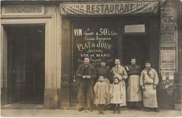 PARIS 75009 -- Carte Photo Restaurant A Identifier (Quartier Butte Montmartre Selon L'affichette Des élections De 1912 ) - Distrito: 09