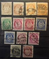 NORGE NORWAY NORVÈGE 1894 - 1907   Cor De Poste 13 Timbres Entre Yvert No 46 - 56 Obl TB Cote 19 Euros - Used Stamps