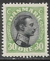 Denmark 1918  Sc#111  30o  MH  2016 Scott Value $35 - Ungebraucht