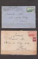 ALGERIE - 2 Lettres De 1949 Avec Timbre Poste Aérienne - Oblitér Perlée Dép LAMY CONSTANTINE à PARIS Et ORAN PARIS - Sin Clasificación
