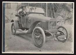 """FRANCE AUTOMOBILE (Chevreuse): Plan TOP Sur La Voiture """" La Ponette1,3 Litres """" Construite En 1913. Photo Originale. - Chevreuse"""
